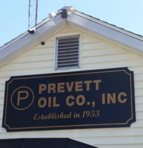 prevett oil sign